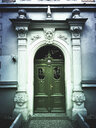 Germany, Leipzig, city center, historic house entrance door - GWF05548
