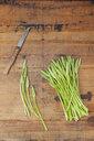 Green wild asparagus on wood - GWF05554