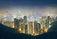Cityscape at night, Victoria Peak, Hong Kong - ISF13129