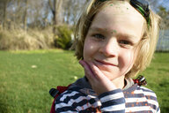 Boy in superhero goggles - ISF13228