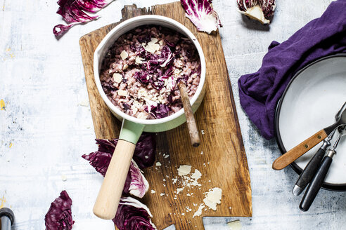 Risotto with radicchio, red wine and pancetta - SBDF03605