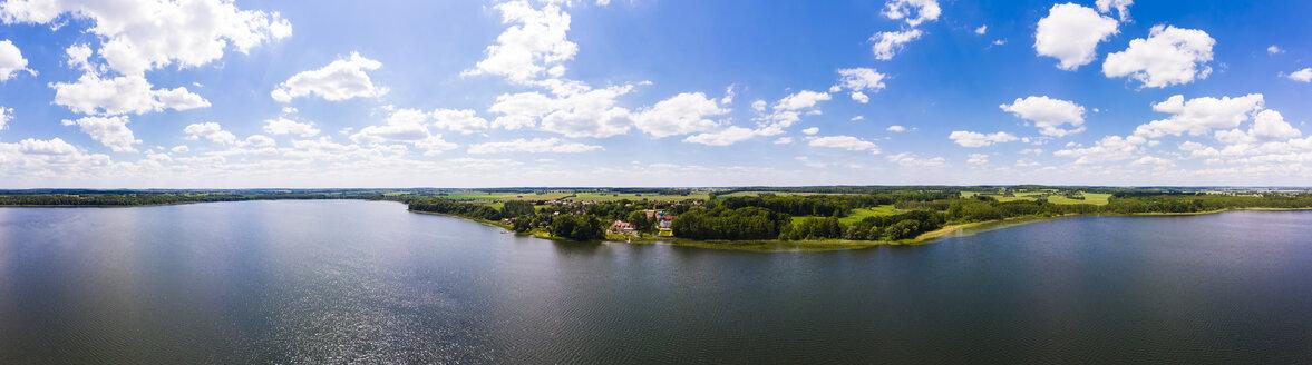Germany, Mecklenburg-Western Pomerania, Mecklenburg Lake District, Aerial view of Torgelow am See, Lake Torgelow - AMF05763