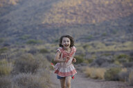 Girl running,  Almeria, Andalusia, Spain - CUF33688