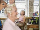 Senior women at hairdressers - CUF33814