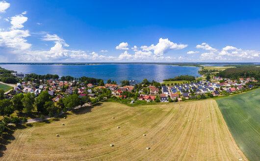 Germany, Mecklenburg-Western Pomerania, Mecklenburg Lake District, Aerial view of Fleesensee and lake Fleesensee - AMF05781