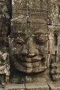 Temple sculpture, Bayon Temple, Angkor Wat Complex,  Siem Reap, Cambodia - CUF34468