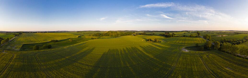 Germany, Mecklenburg-Western Pomerania, Teterow, Aerial view of fields - AMF05786