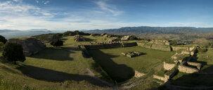 View over Monte Alban at dawn, Oaxaca, Mexico - CUF34910