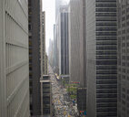 Elevated view of rush hour between skyscrapers, New York, USA - CUF35060