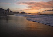 Waves lapping on Copacabana beach at dawn, Rio De Janeiro, Brazil - CUF35669