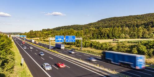 Germany, Baden-Wuerttemberg,  Leonberg, motorway A 8 - WDF04700