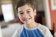 Portrait of smiling boy at home - ISF14465