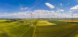 Germany, Rhineland-Palatinate, Alzey, Wind park and fields - AMF05793