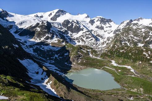 Switzerland, Canton of Bern, Susten Pass, Lake Steinsee and Stein Glacier - STSF01678