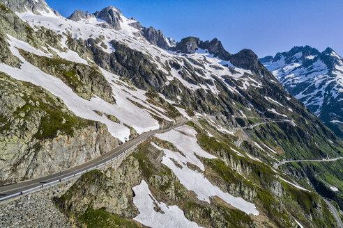 Switzerland, Canton of Uri, Aerial view of Susten Pass - STSF01681