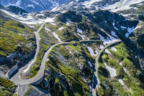 Switzerland, Canton of Uri, Aerial view of Susten Pass - STSF01684