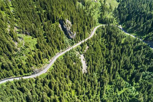 Switzerland, Canton of Uri, Aerial view of Susten Pass - STSF01687