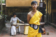 Vietnam, Hanoi, young man wearing Kung Fu clothes - WPEF00525