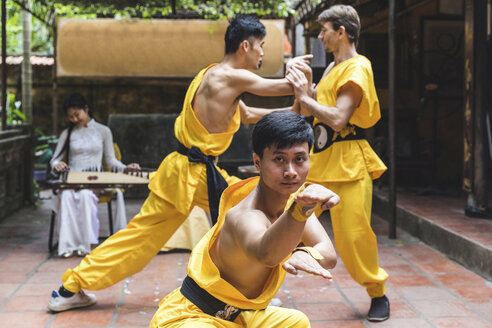 Vietnam, Hanoi, men exercising Kung Fu - WPEF00534