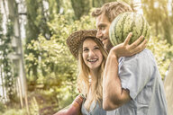 Couple with watermelon - CUF37773