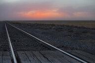 Rail crossing and tracks, Oklahoma, USA - ISF14908