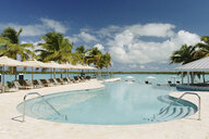 Swimming pool at beach resort, Providenciales, Turks and Caicos Islands, Caribbean - ISF15082