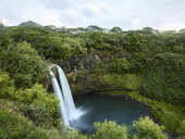 USA, Hawaii, Kauai, Wailua waterfall in morning light - CVF00929