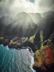 USA, Hawaii, Kauai, Na Pali Coast, aerial view - CVF00935