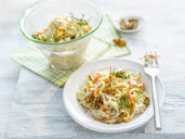 Noodle salad with carrot, walnut and cress - KSWF01955