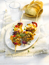 Grill skewer, chicken meat, onion, paprika, sauce, thyme - KSWF01958