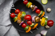 Vegetarian grill skewer, close-up - LVF07191