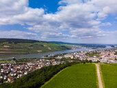 Germany, Rhineland-Palatinate, Aerial view of Weiler am Rhein, Nahe river and Bingen am Rhein - AMF05809