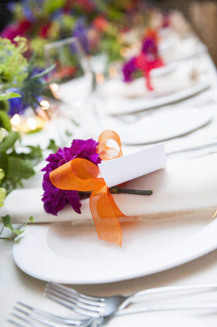 Close Up Detail Of Place Settings At Wedding Reception Cuf39590 Redheadpictures Westend61