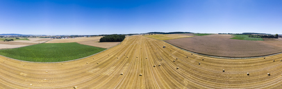 Germany, harvested field, aerial view - AMF05817