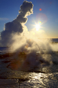Steam rising from natural geyser - CUF40288