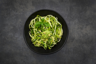 Bowl of Zoodels with avocado basil pesto - LVF07247