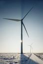 Wind turbines in snowy landscape - CUF40922