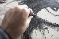 Close-up of artist drawing - ZEF15880