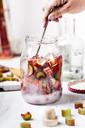 Making of Rhubarb Gin - SBDF03618