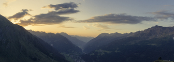 Switzerland, Ticino, Airolo, panorama morning mood at Gotthard Pass - DWIF00929
