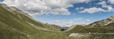 Switzerland, Grisons, Tiefencastel, Albula Valley with pass road - DWIF00935