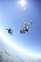 Skydivers free falling above Leutkirch, Bavaria, Germany - CUF42699