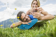 Couple enjoying the meadow - CUF42863
