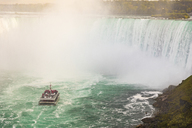 Canada, Ontario, Niagara Falls and boat on the river - WPEF00696