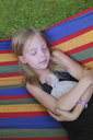 Young girl resting in hammock - CUF42932
