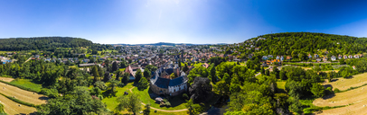 Germany, Hesse, Wetterau, Budingen with Budingen castle - AMF05829