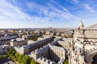 France, Paris, View over the city from Notre Dame cathedral - WD04741