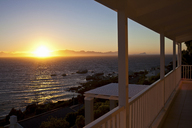 Sunset over sea, Simonstown, Western Cape, South Africa - CUF43549