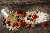 Various oat flakes and berries - EVGF03369