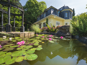 Germany, art nouveau villa, 1929, lily pond - LAF02063